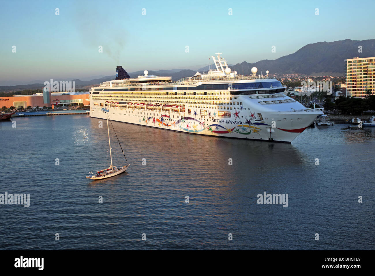 Mexico Port Of Puerto Vallarta With Cruise Ship Tourist Boats And - Cruise ship schedule puerto vallarta