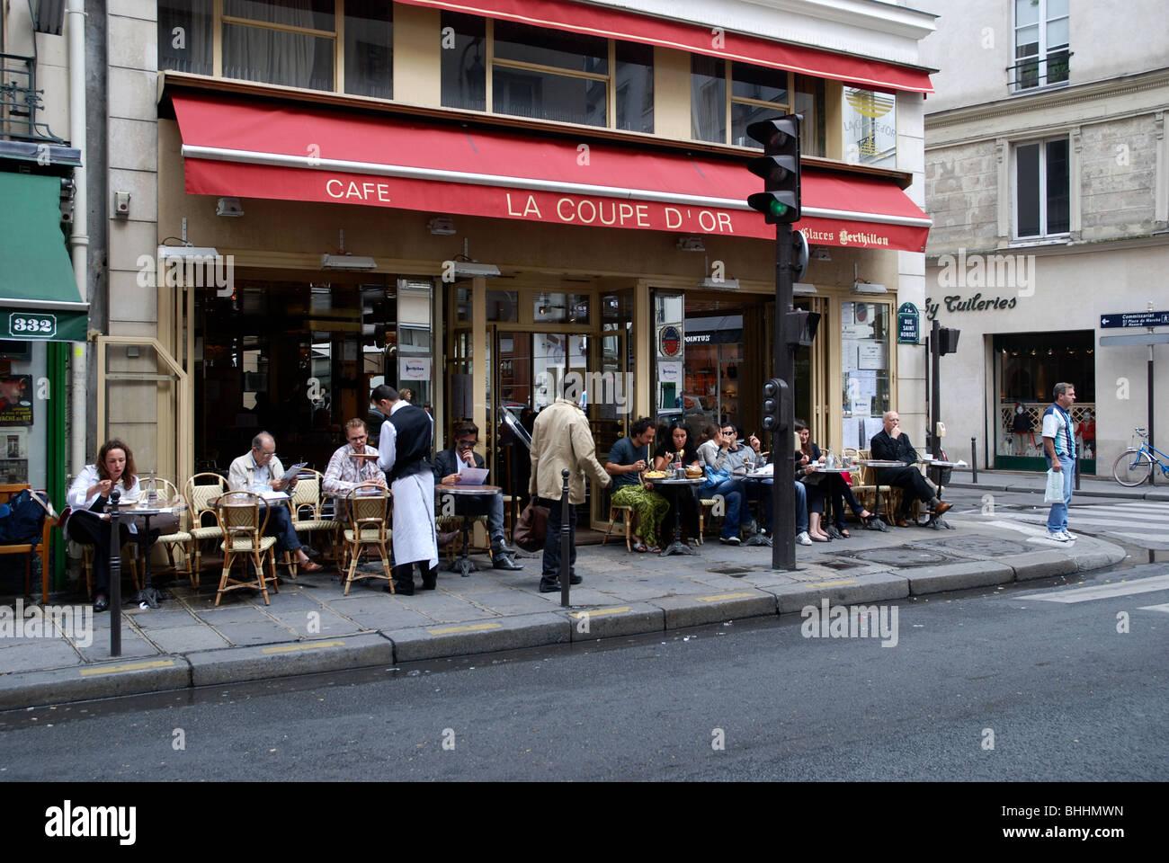 la coupe d 39 or in the rue saint honor paris stock photo. Black Bedroom Furniture Sets. Home Design Ideas