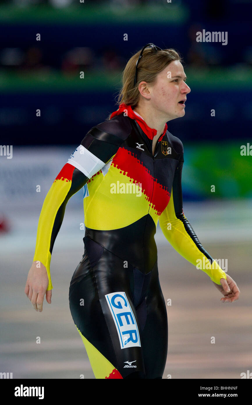 Jenny Wolf (GER) competing in the Women's 500m Speed ...