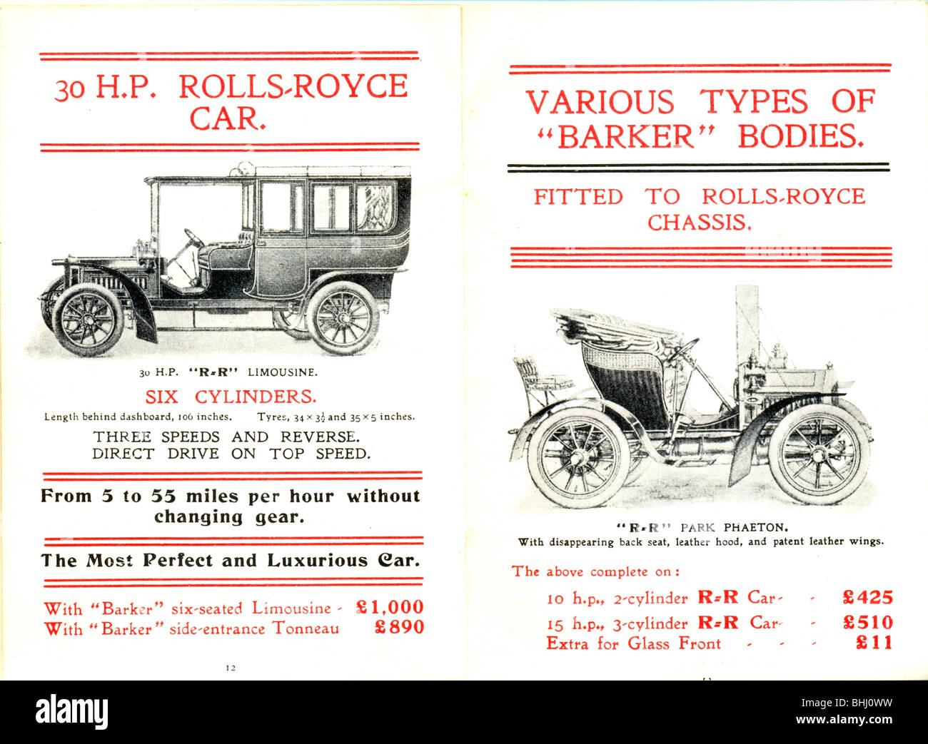 The New All British Motor Car Rolls Royce Advertising Booklet