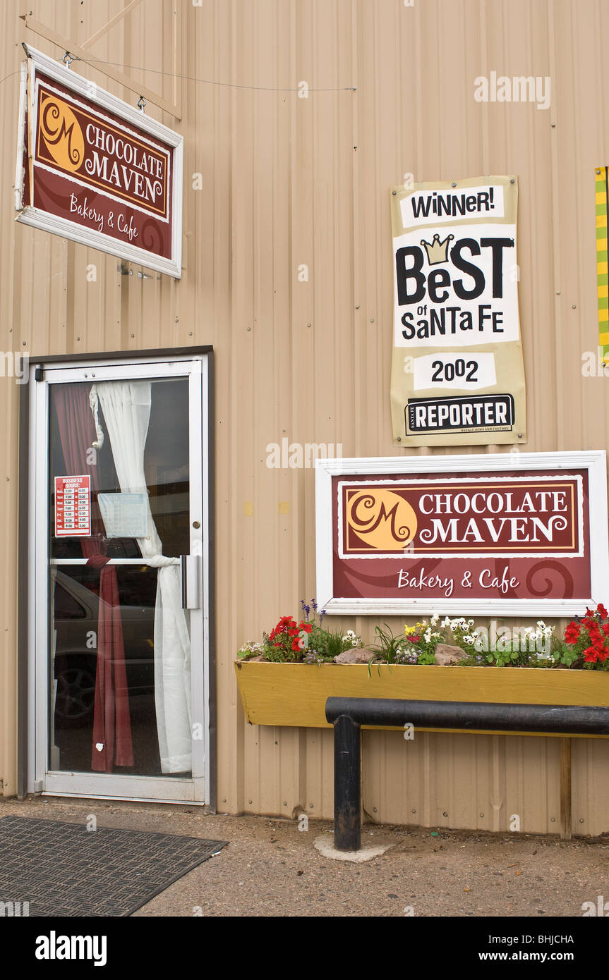Chocolate Maven Bakery and Cafe Santa Fe, New Mexico Stock Photo ...