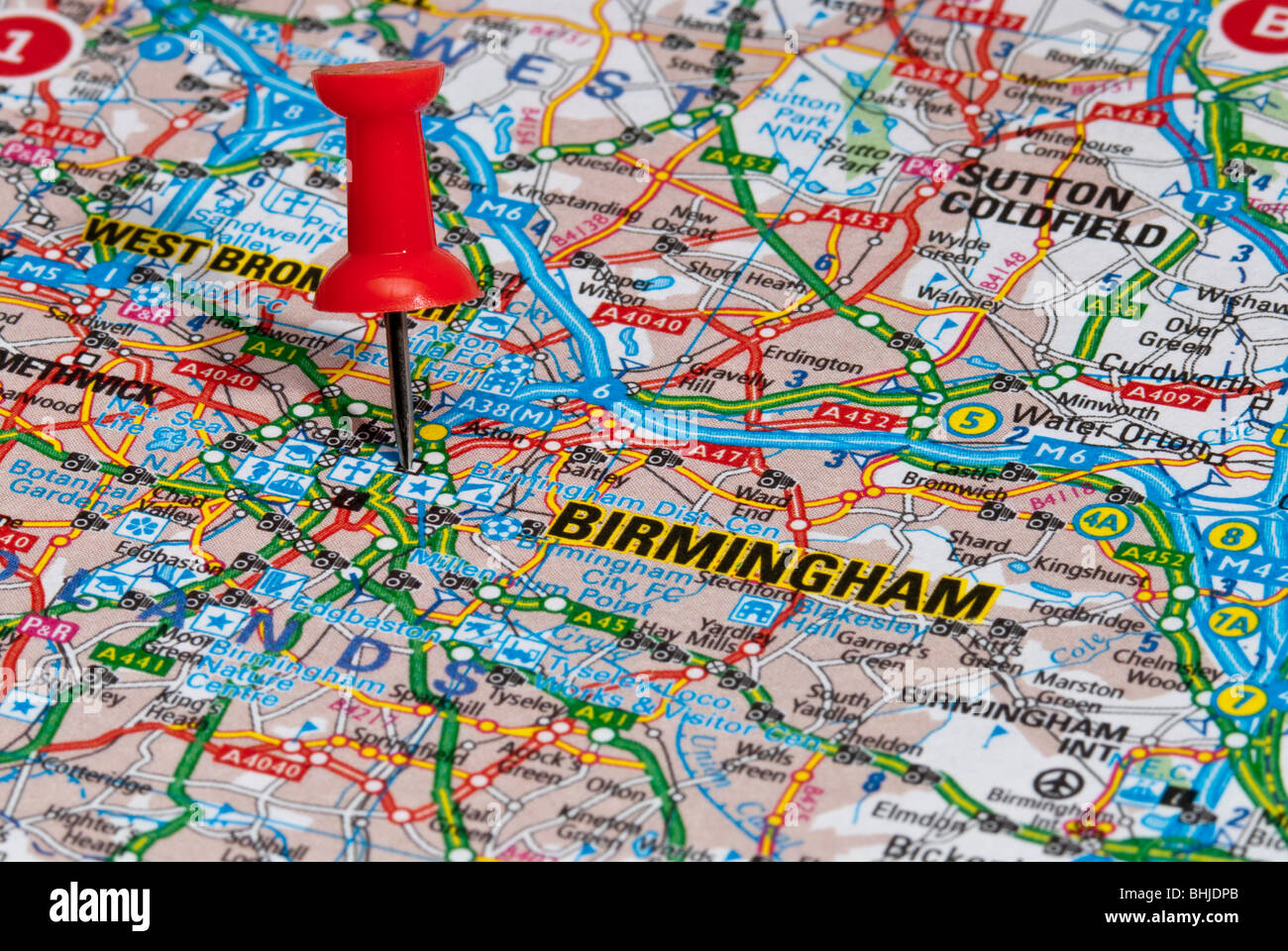 West Midlands Uk Map Stock Photos  West Midlands Uk Map Stock
