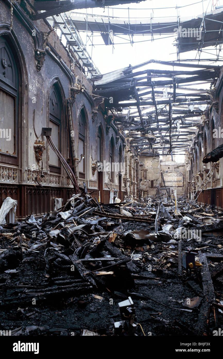 Fire damage at St George's Hall, Windsor Castle, Windsor ...