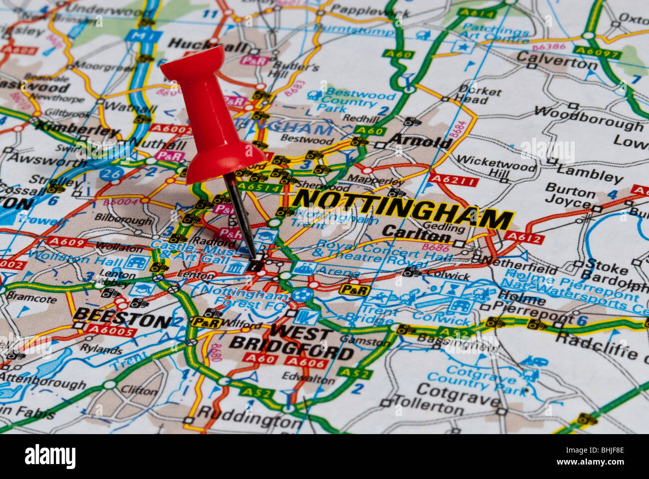 Image Gallery Nottingham Map