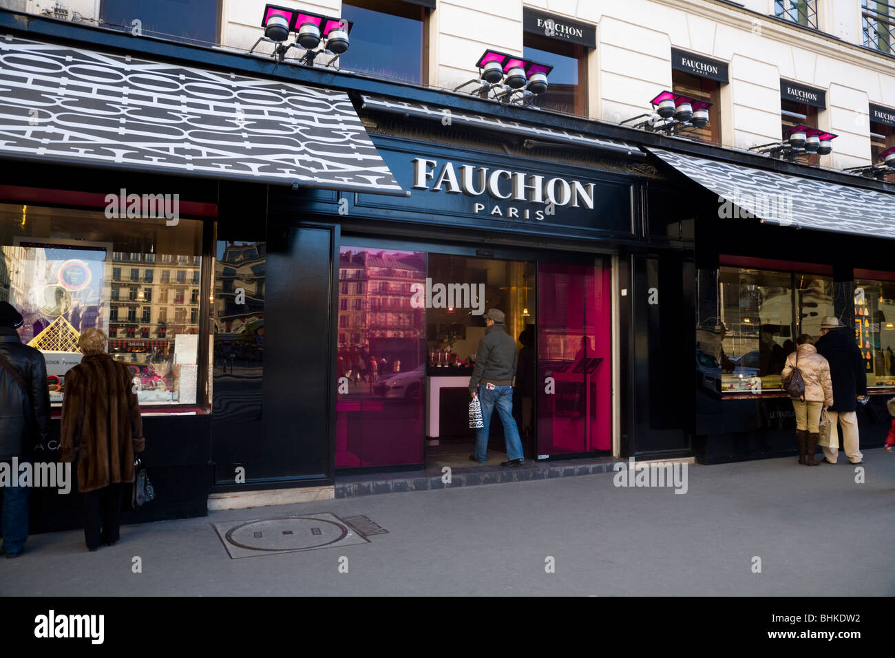 exterior of the fauchon luxury shop luxurious store delicatessen stock photo royalty free. Black Bedroom Furniture Sets. Home Design Ideas