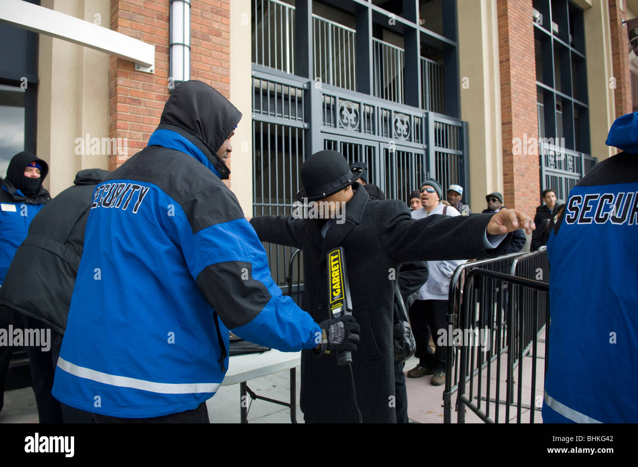 job seekers on line for jobs pass thorough security at citi field job seekers on line for jobs pass thorough security at citi field in queens in new york