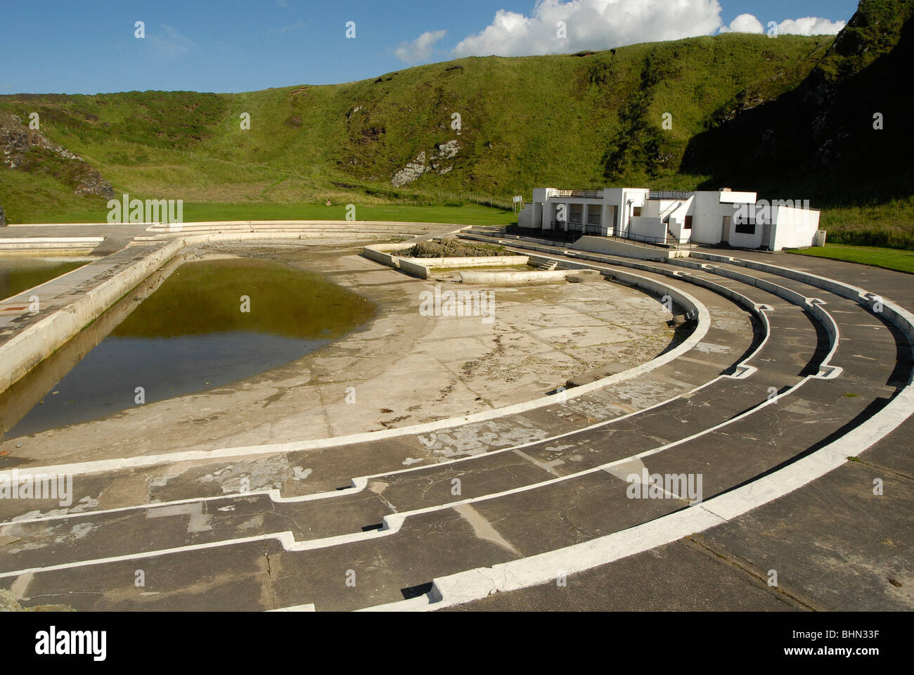 Tarlair Swimming Pool Macduff Aberdeenshire Outdoor Pools Opened Stock Photo Royalty Free