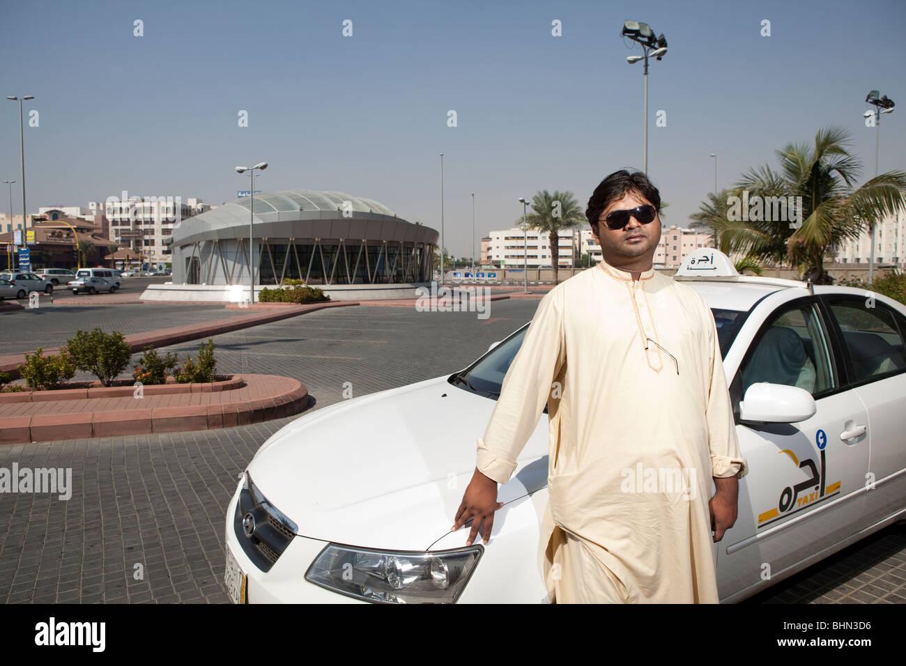 Stock photo taxi driver jeddah saudi arabia arabic car cab