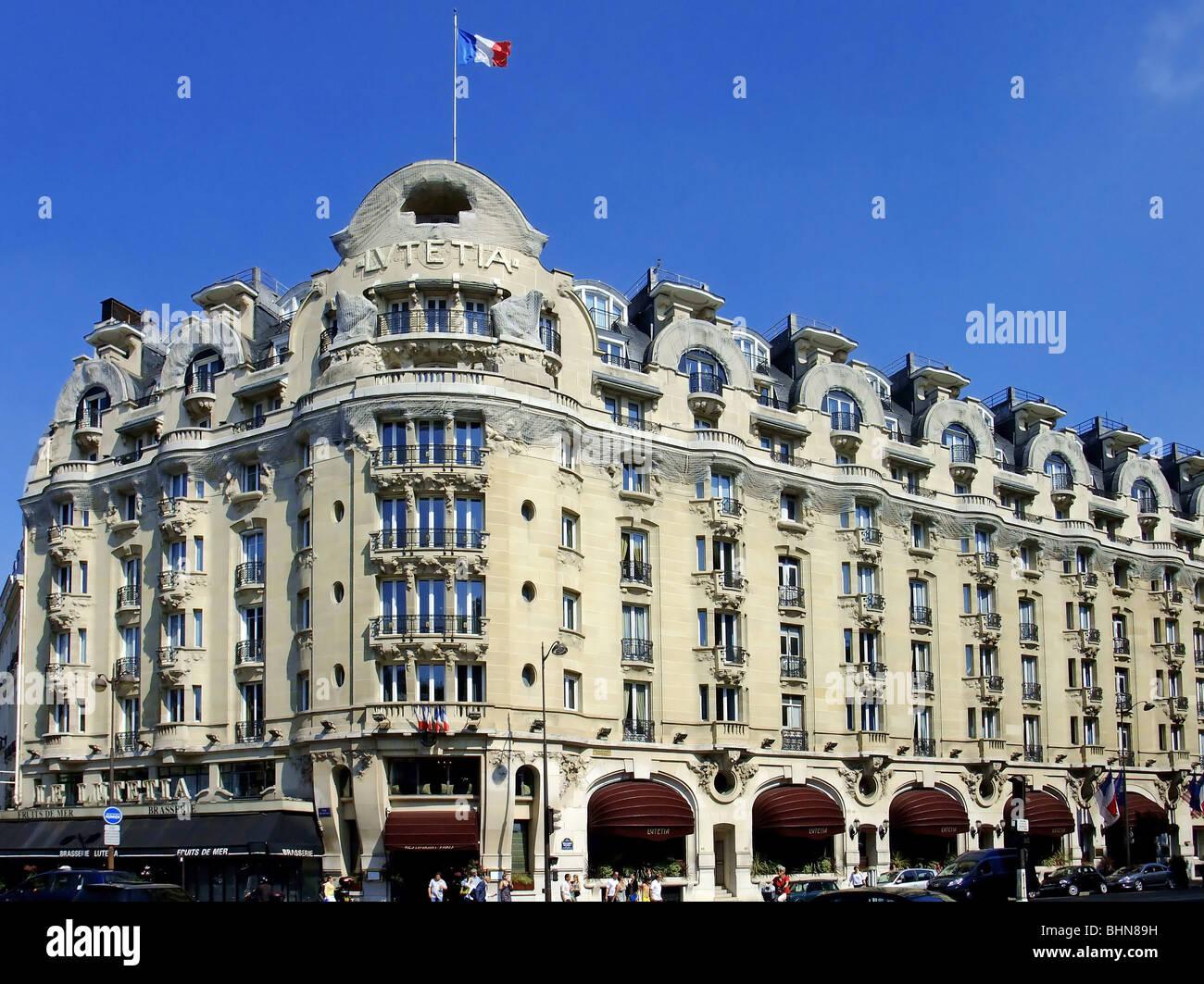 geography travel france paris hotel lutetia boulevard raspail stock photo royalty free. Black Bedroom Furniture Sets. Home Design Ideas
