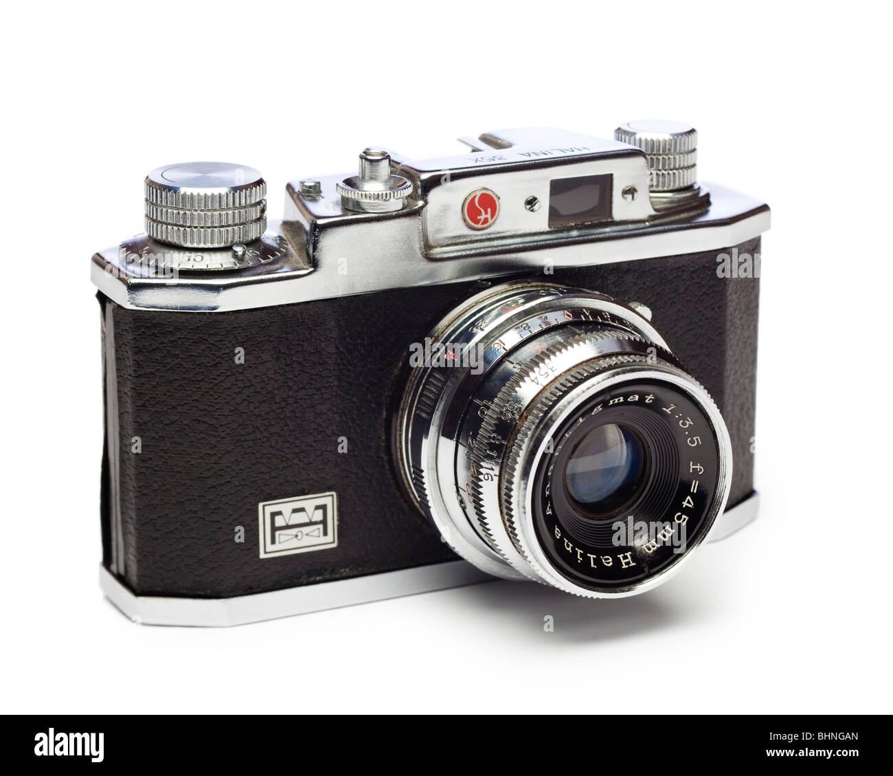 Old camera - Halina 35x rangefinder film camera Stock Photo ...