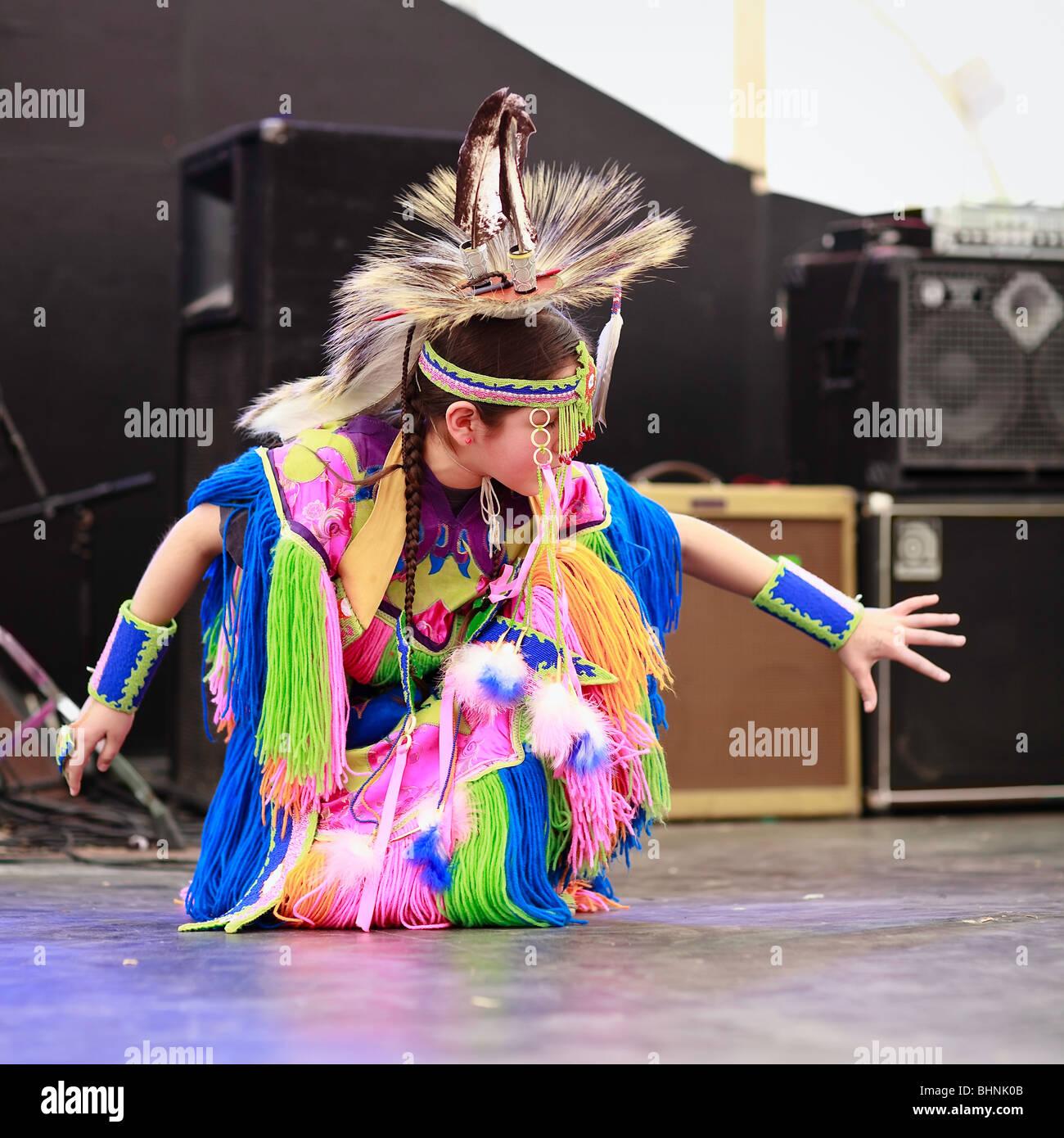 Manitoba Native Plants: Young Native Canadian Girl Dancing, Festival Du Voyageur