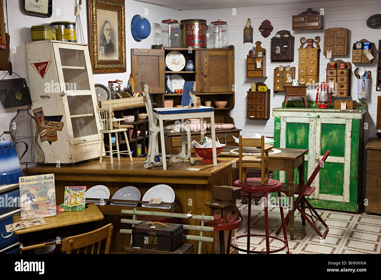 Flea market shop with furniture and goods for sale Texas USA. Flea market shop with furniture and goods for sale Texas USA Stock