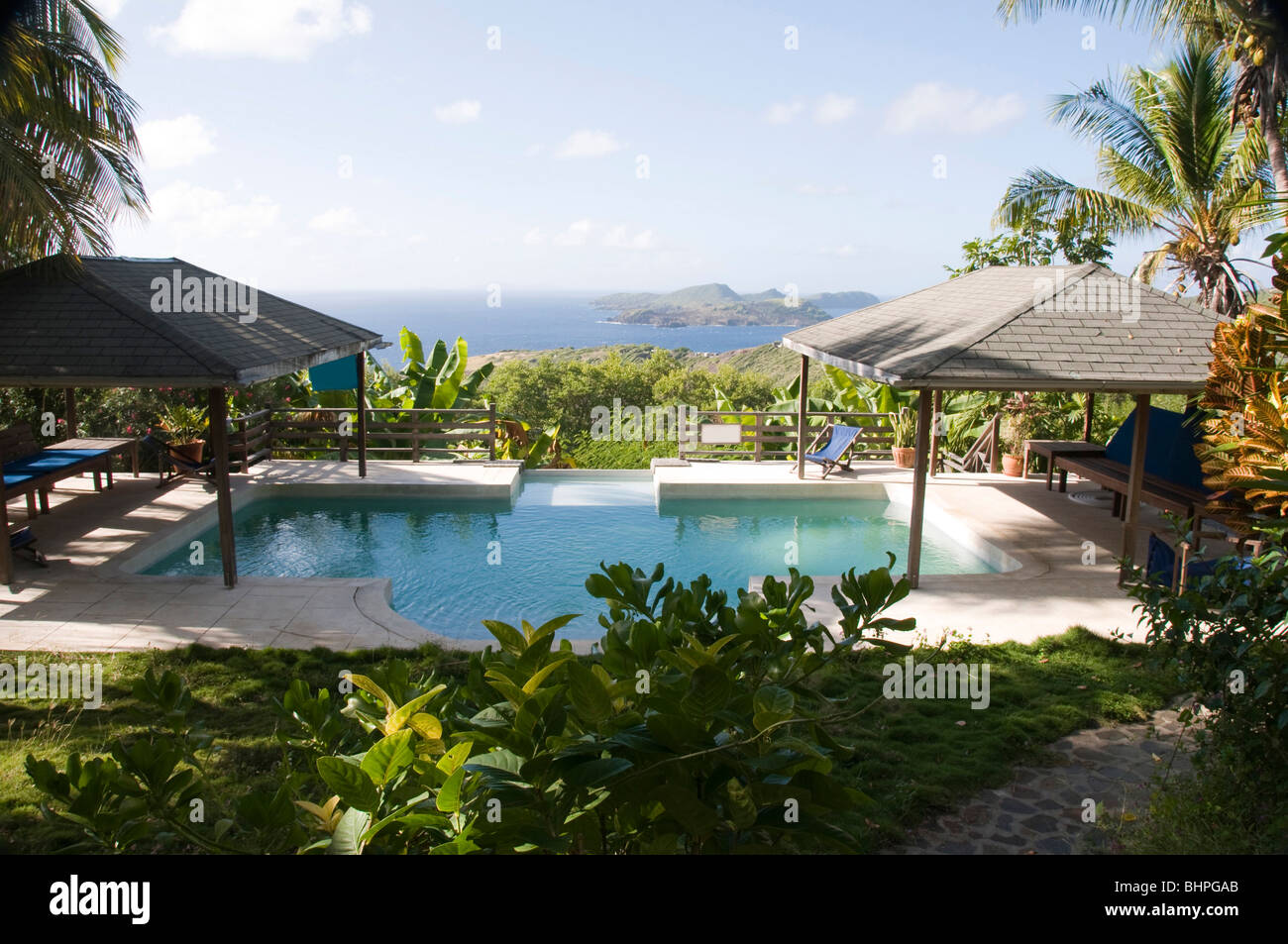 Luxury Caribbean Bequia Island Villa Hotel Pool With View