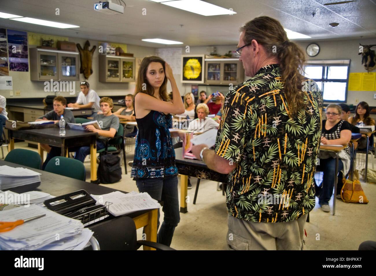 teaching physics to high school students