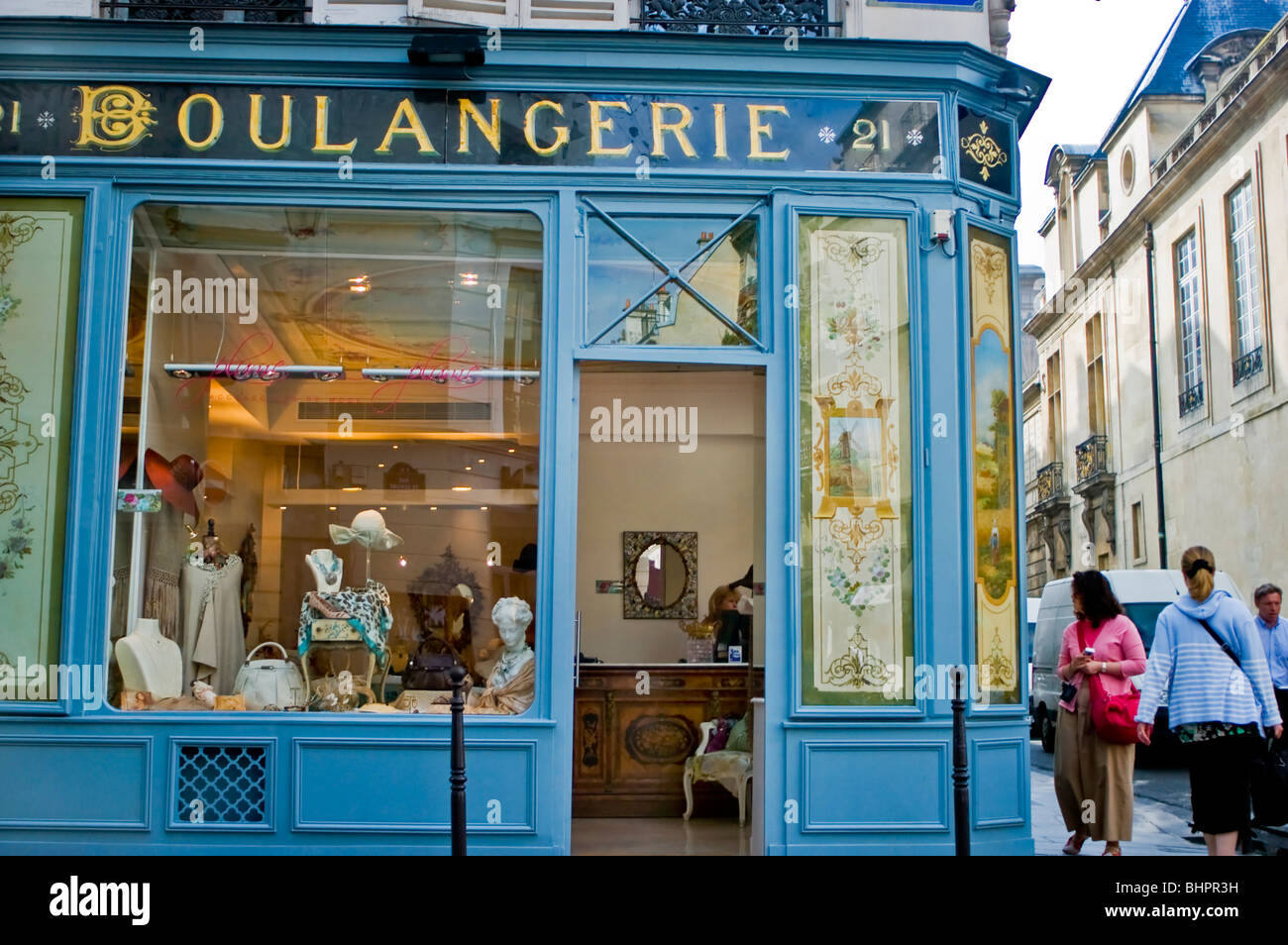 paris france shopping old french bakery shop front window stock photo royalty free image. Black Bedroom Furniture Sets. Home Design Ideas