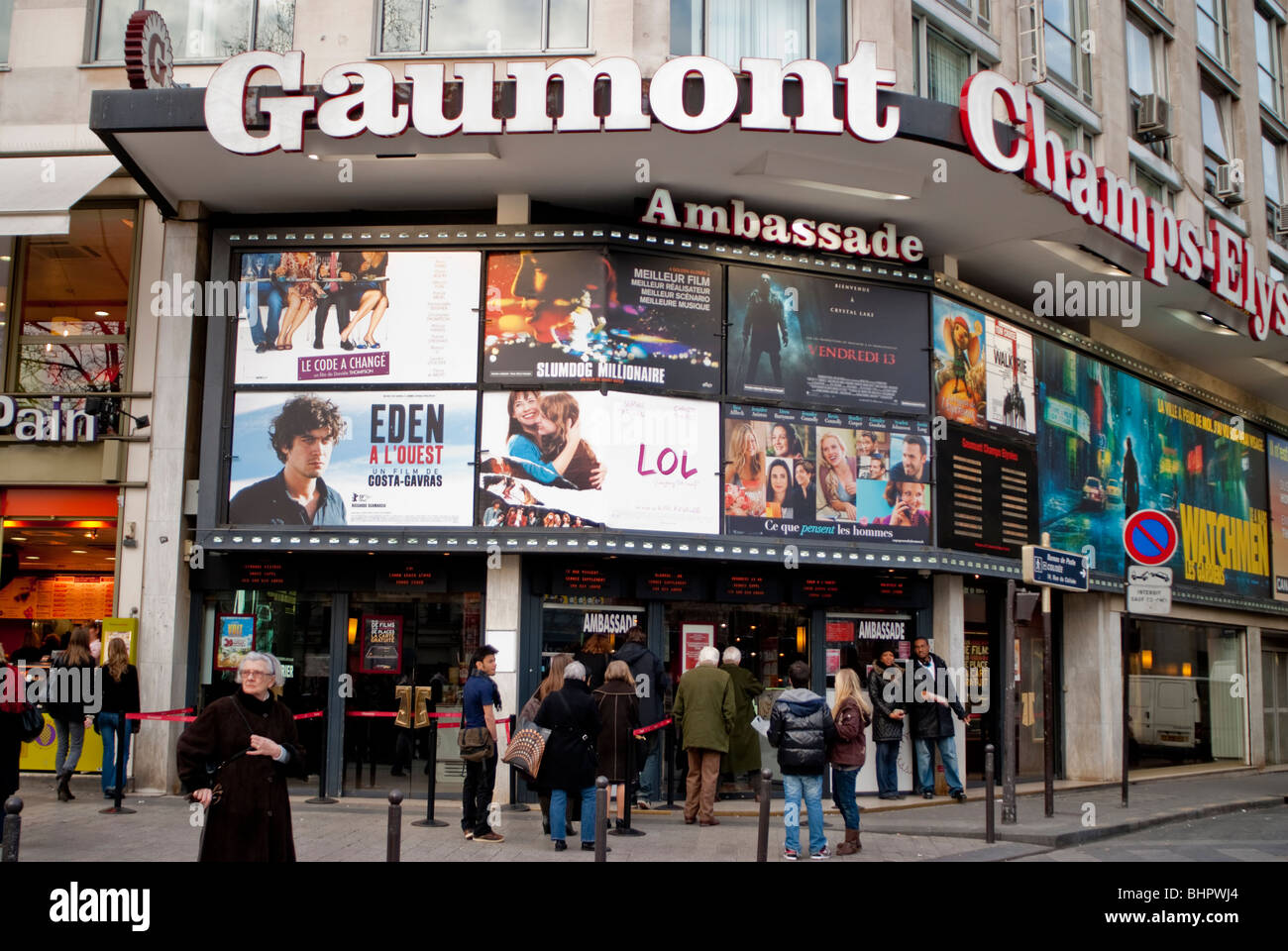 paris france cinema theater outdoors gaumont movie