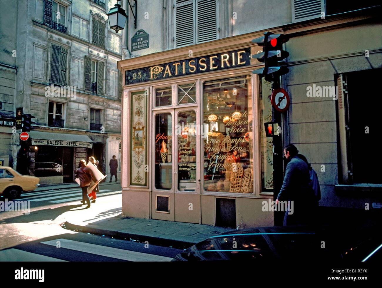 France paris boulangerie patisserie old vintage french for Retro shop paris