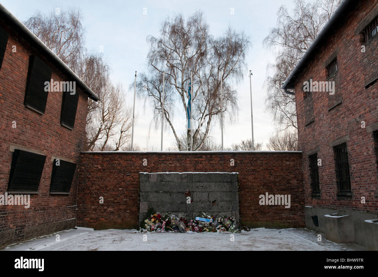 Auschwitz Concentration Camp Museum In Stock Photos  Auschwitz - Concentration camp museums in usa