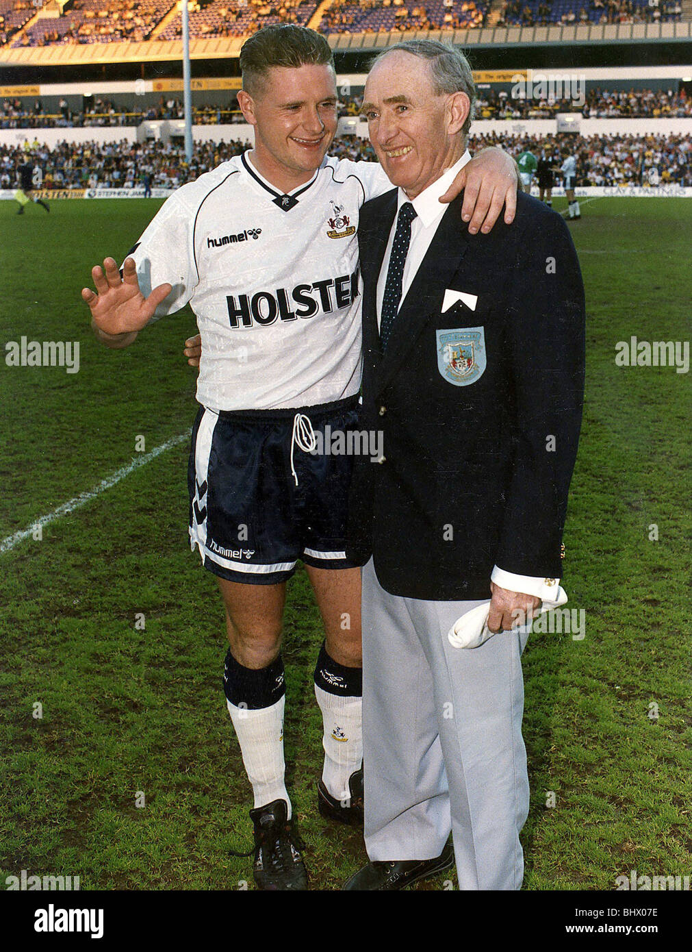 Danny Blanchflower right who played for Tottenham FC with Paul