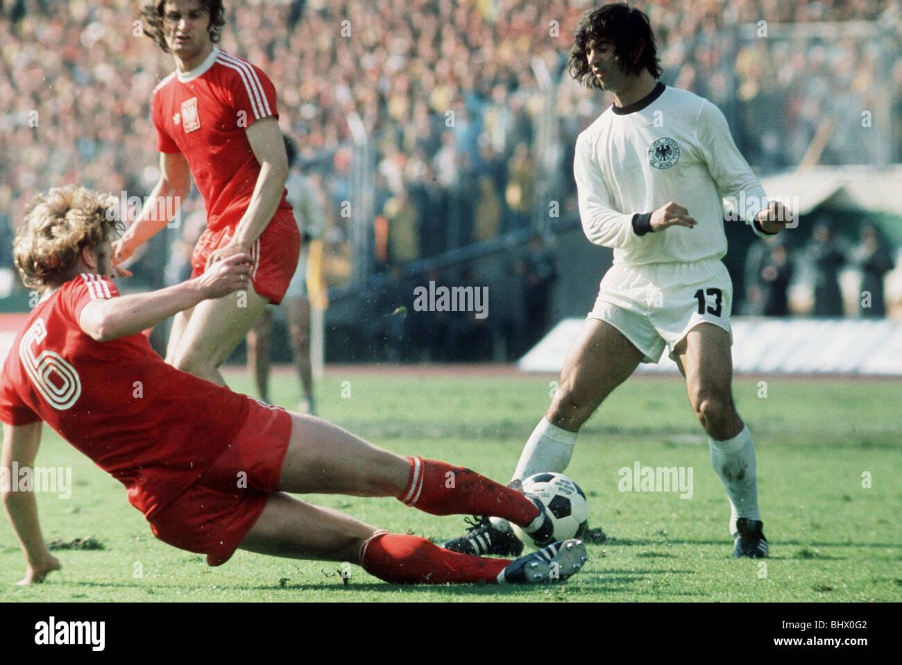 Football World Cup 1974 West Germany 1 Poland 0 in Frankfurt Gerd
