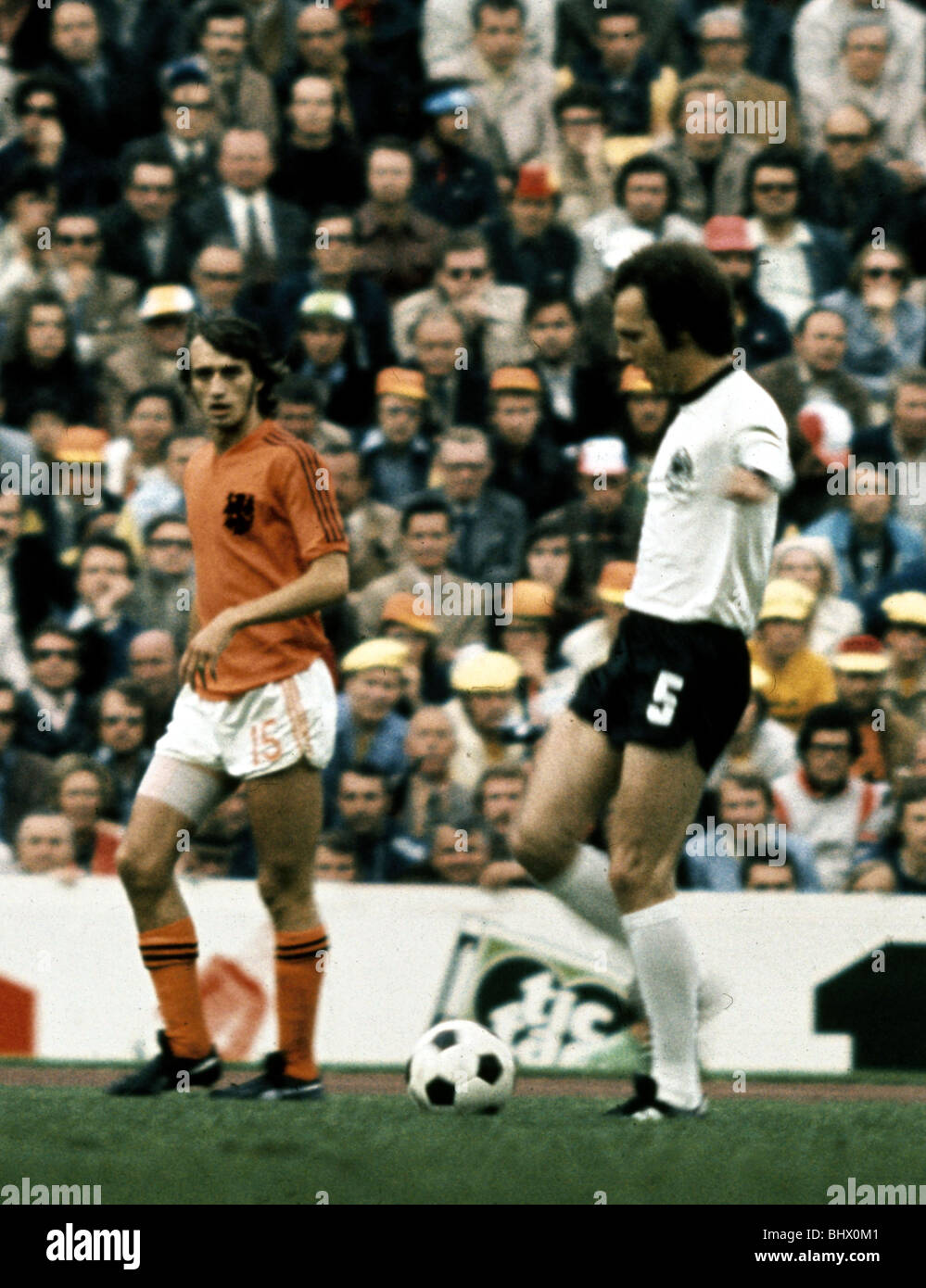 Franz Beckenbauer West Germany in World Cup Final against