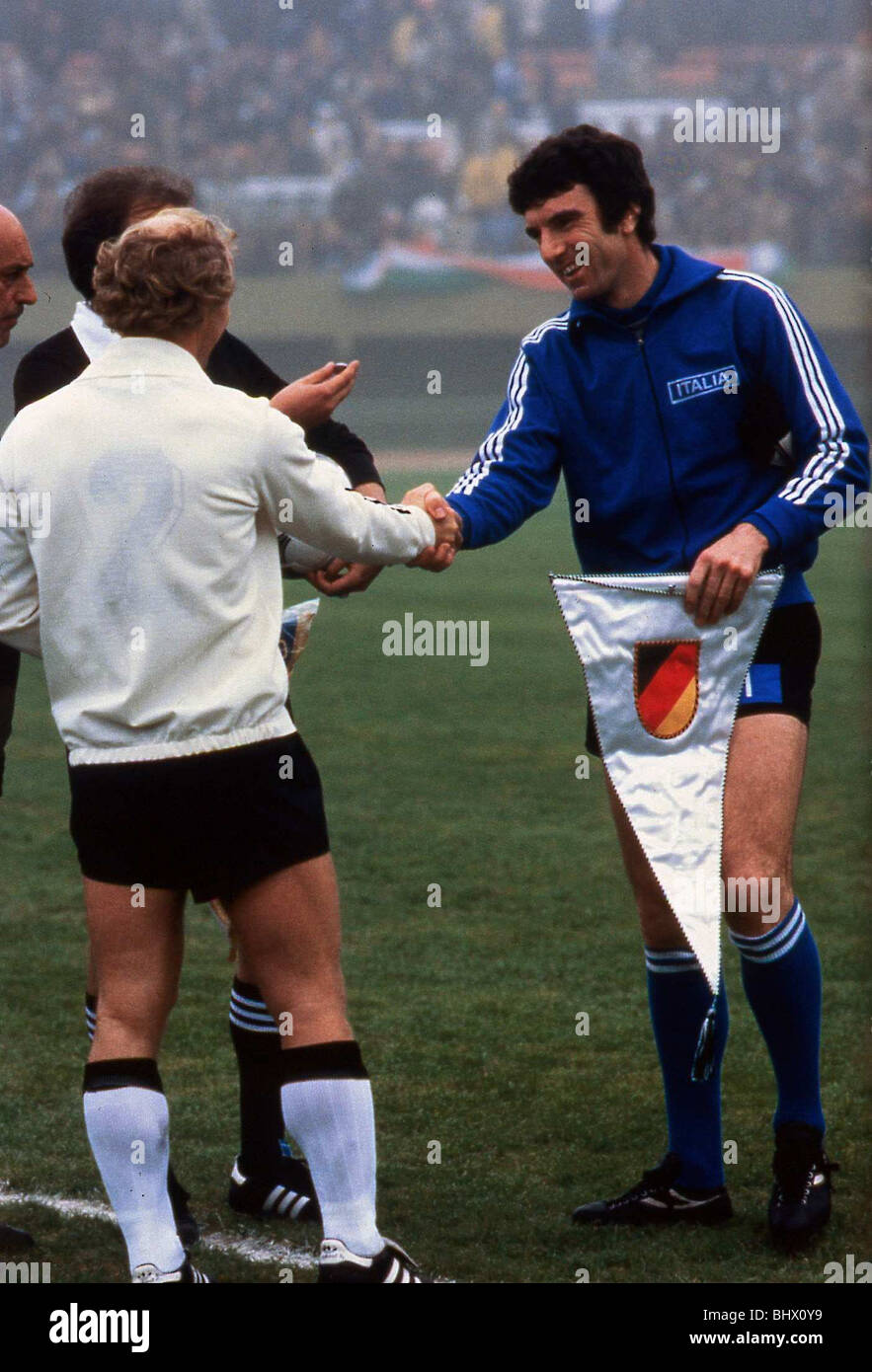 World Cup 1978 West Germany versus Italy BERTI Vogts shakes hands