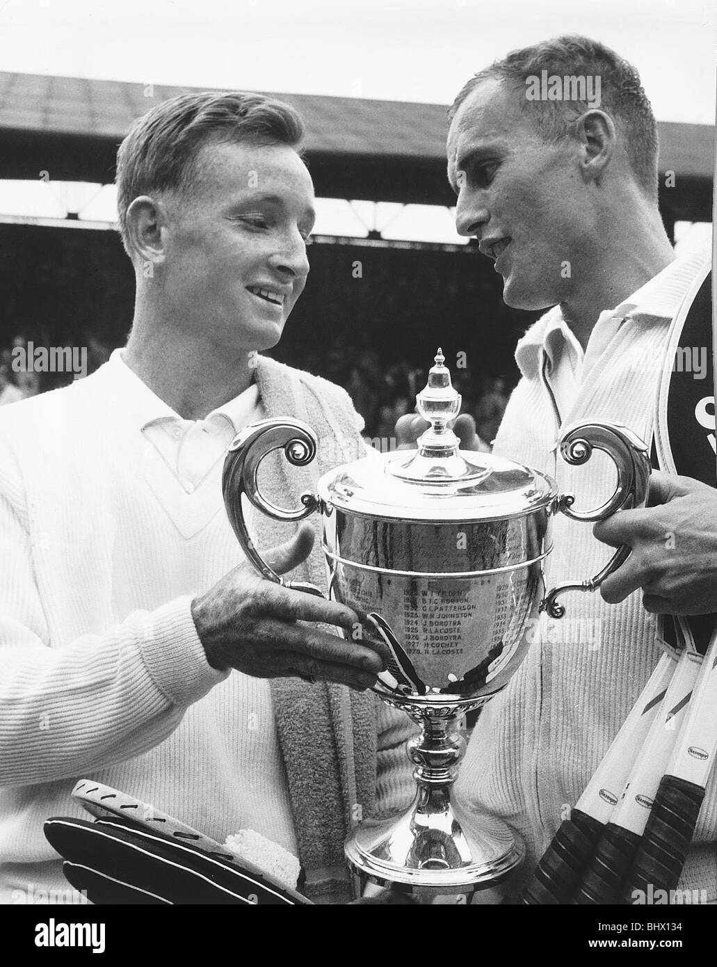 Neale Fraser wins mens singles title at Wimbledon 1960 with
