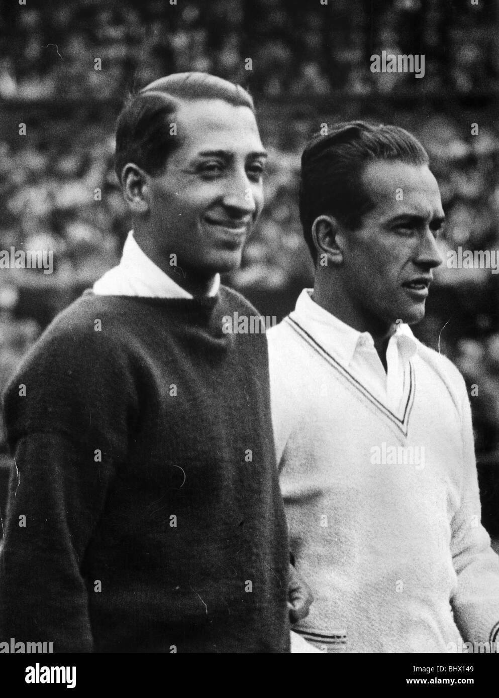 Rene Lacoste left and Henri Cochet two of the Four Musketeers
