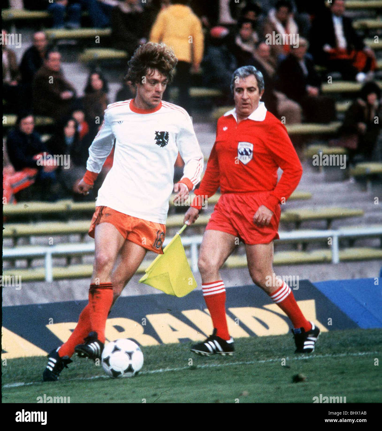 Footballer Johnny Rep of Holland during the World Cup 1978 match
