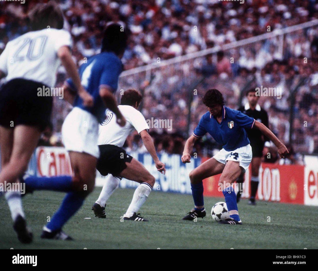 World Cup final 1982 Italy v West Germany football Marco Tardelli
