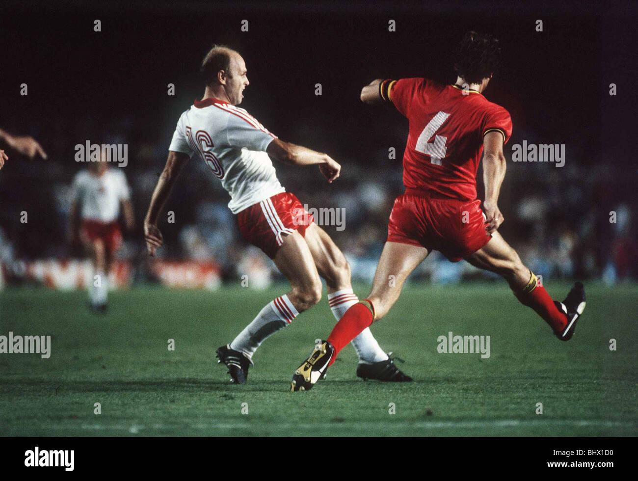 Poland v Belgium 1982 World Cup Grzegorz Lato white and Walter