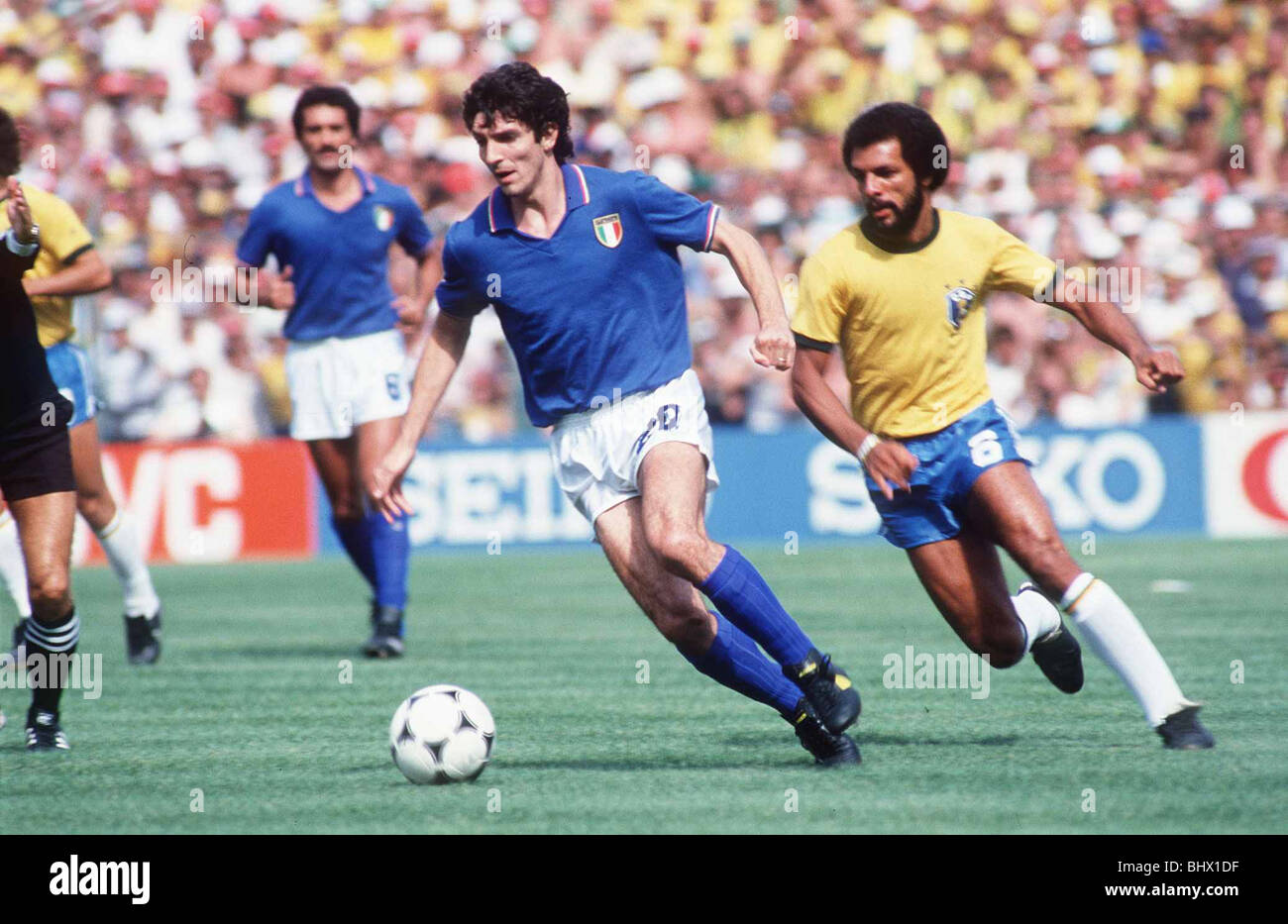 Italy v Brazil 1982 World Cup match Paolo Rossi s away from