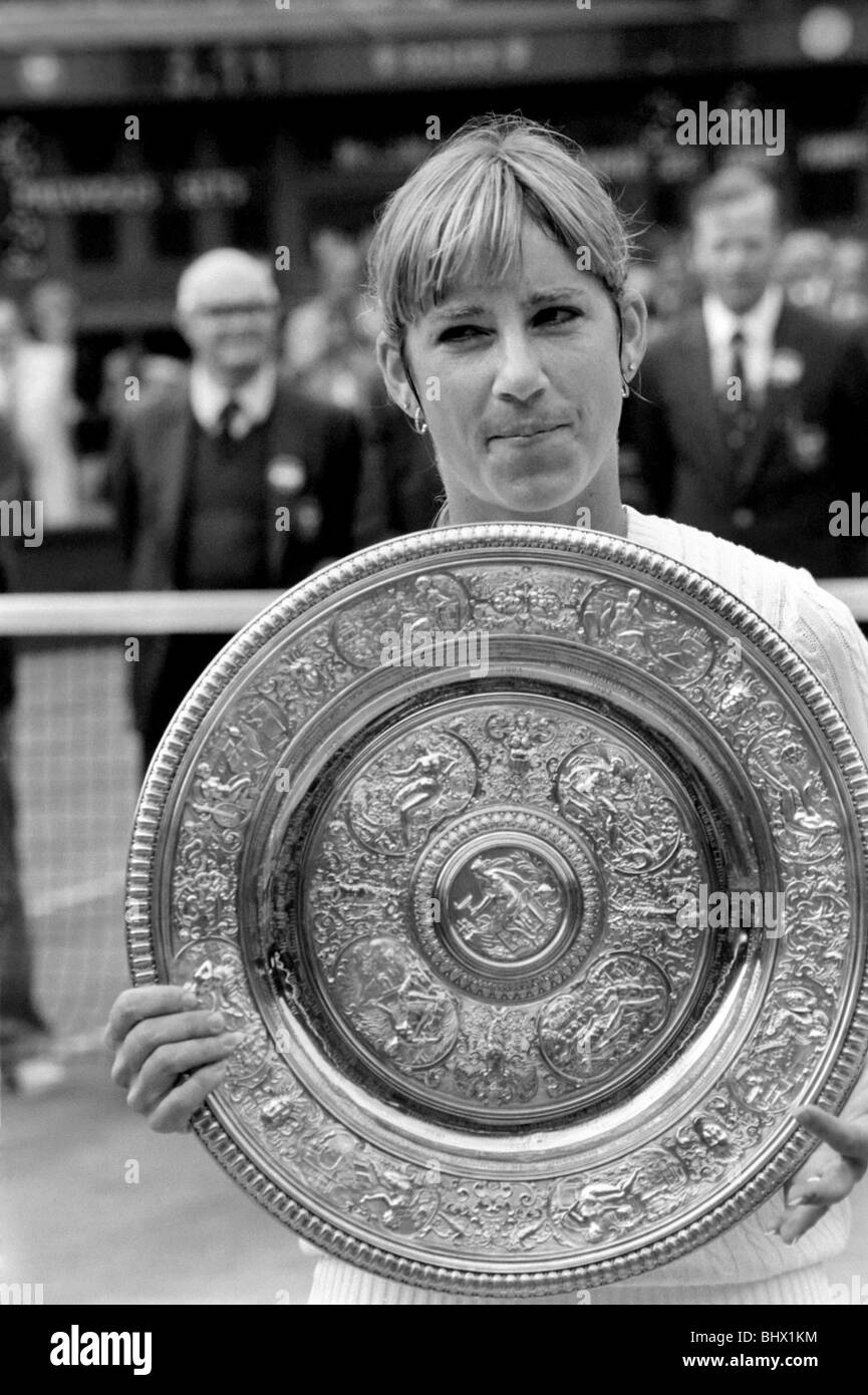 Wimbledon Tennis 1981 Womens Finals Chris Evert Lloyd v Hana