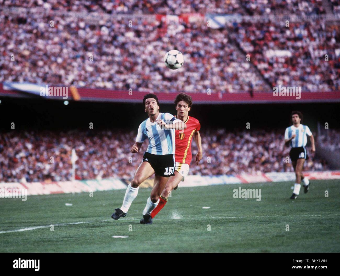 Argentina v Belgium World Cup 1982 football Daniel Passarella