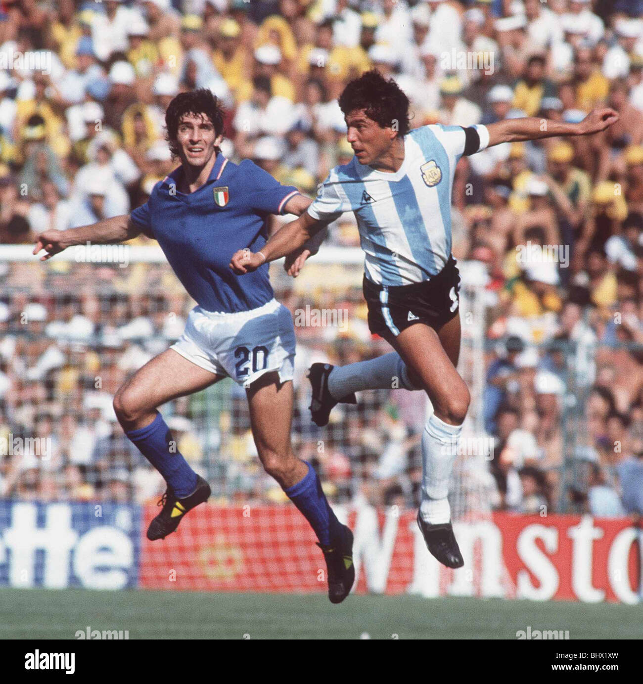 World Cup 1982 Group C Italy 2 Argentina 1 Paolo Rossi 20 and