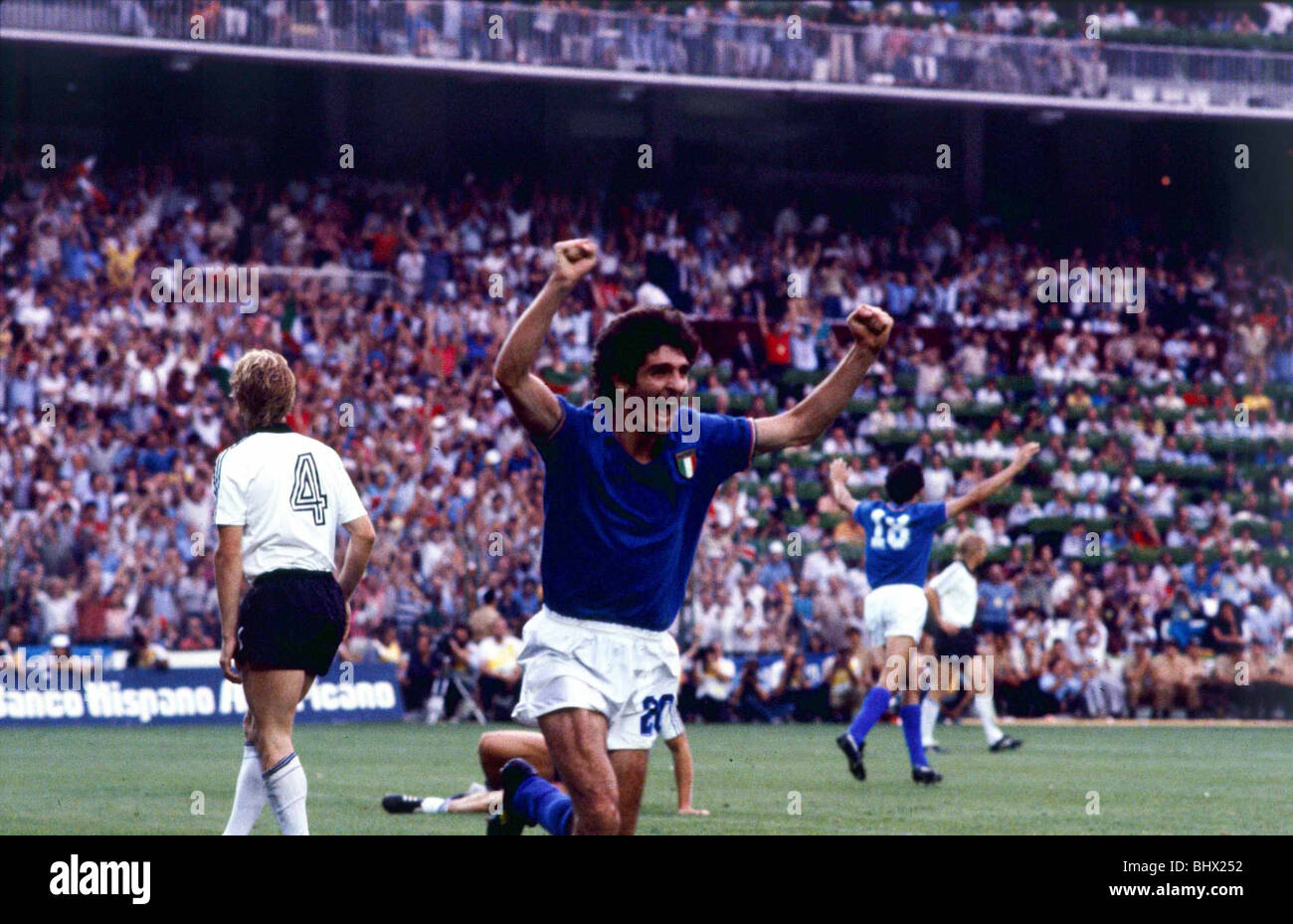 World Cup Final 1982 Italy 3 W Germany 1 Paolo Rossi celebrates