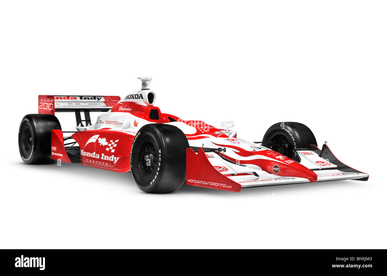 Red honda indy race car isolated on white background with clipping red honda indy race car isolated on white background with clipping path voltagebd Images