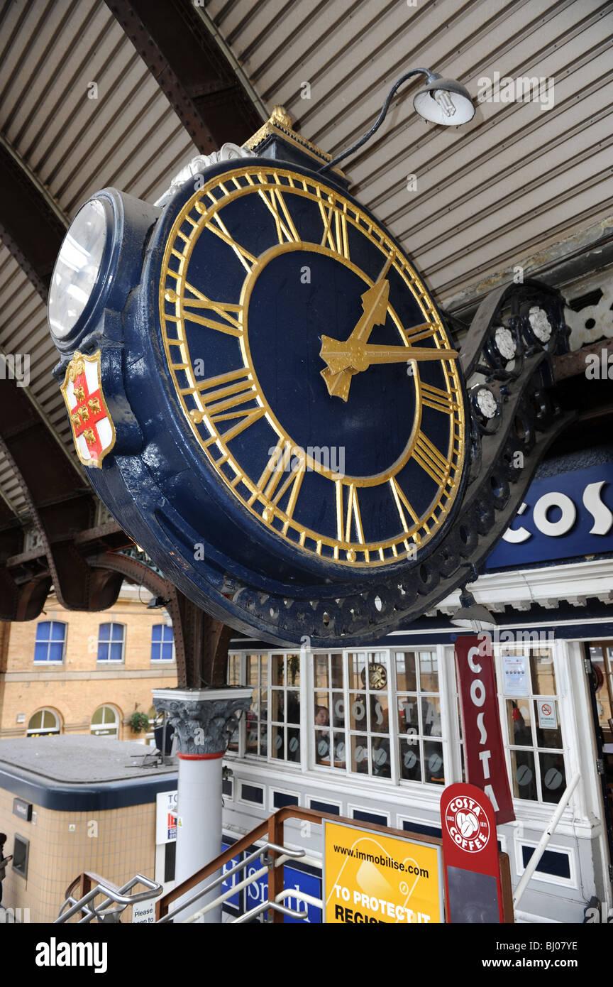 Railway clock clocks stock photos railway clock clocks stock city of york railway station clock in north yorkshire england uk stock image amipublicfo Gallery