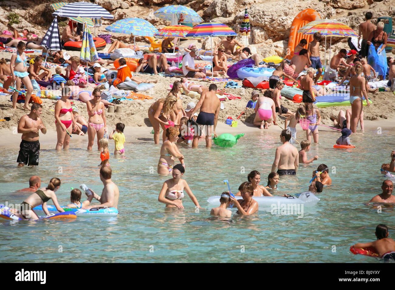 People On A Beach Cala DOr Spain