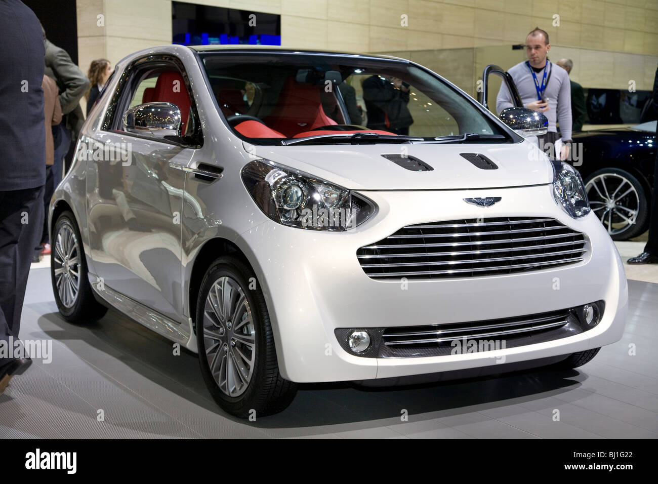 aston martin cygnet toyota iq based city car at a motor show stock photo 28308730 alamy. Black Bedroom Furniture Sets. Home Design Ideas