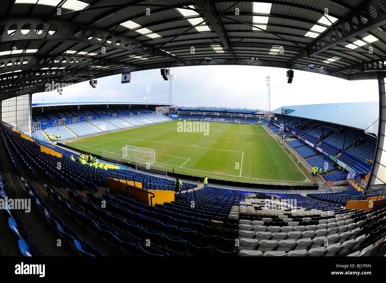 View Inside Fratton Park Stadium Portsmouth Home Of