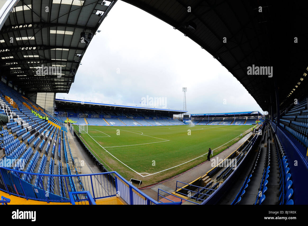 View Inside Fratton Park Stadium Portsmouth Home Of Football Club