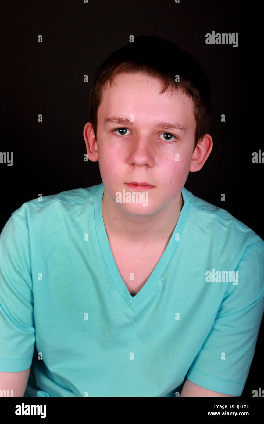 15 Year Boys Bedroom: Portrait Of A 15 Year Old Boy Stock Photo, Royalty Free