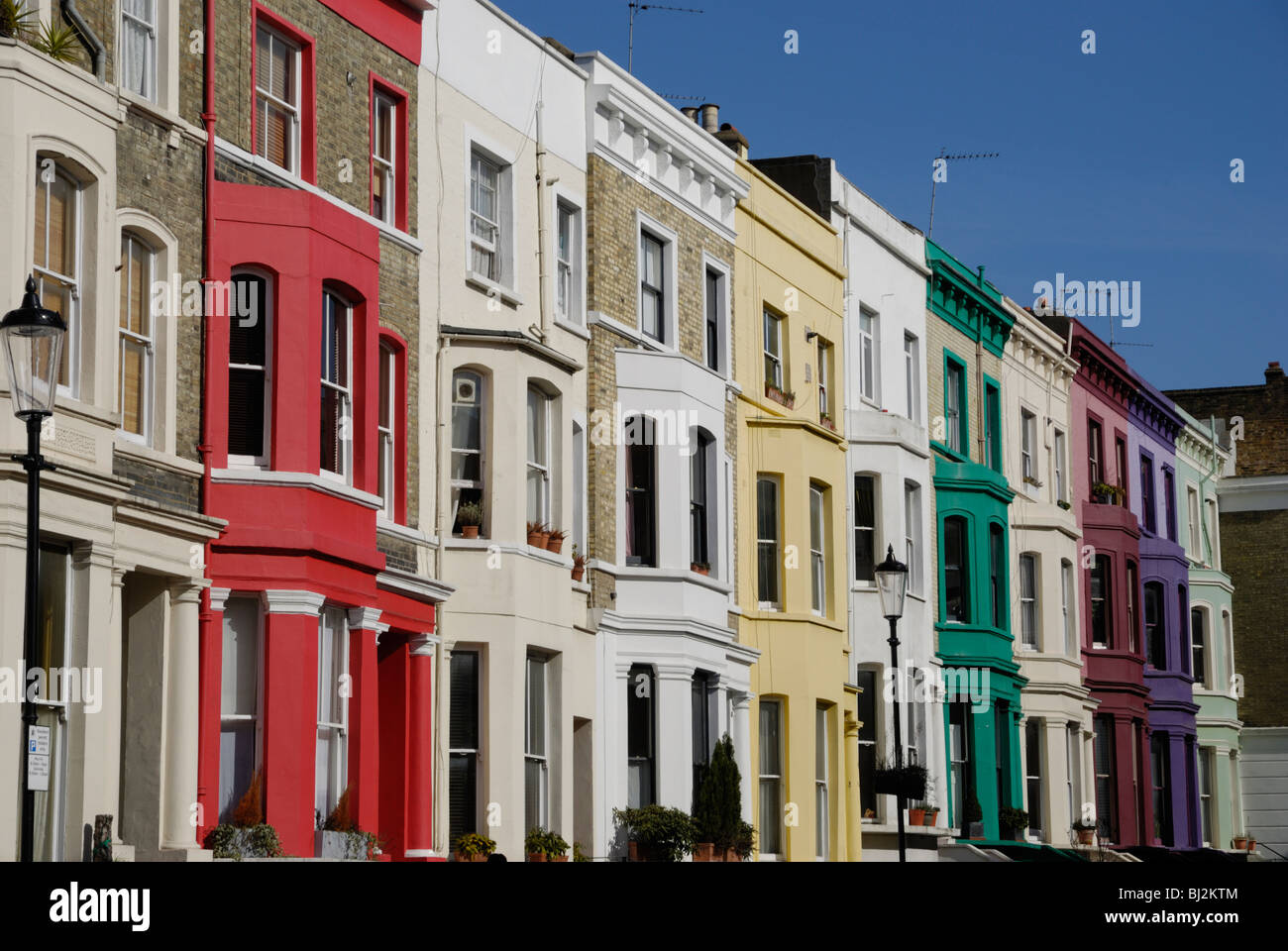 Multi coloured houses lancaster road notting hill for House notting hill