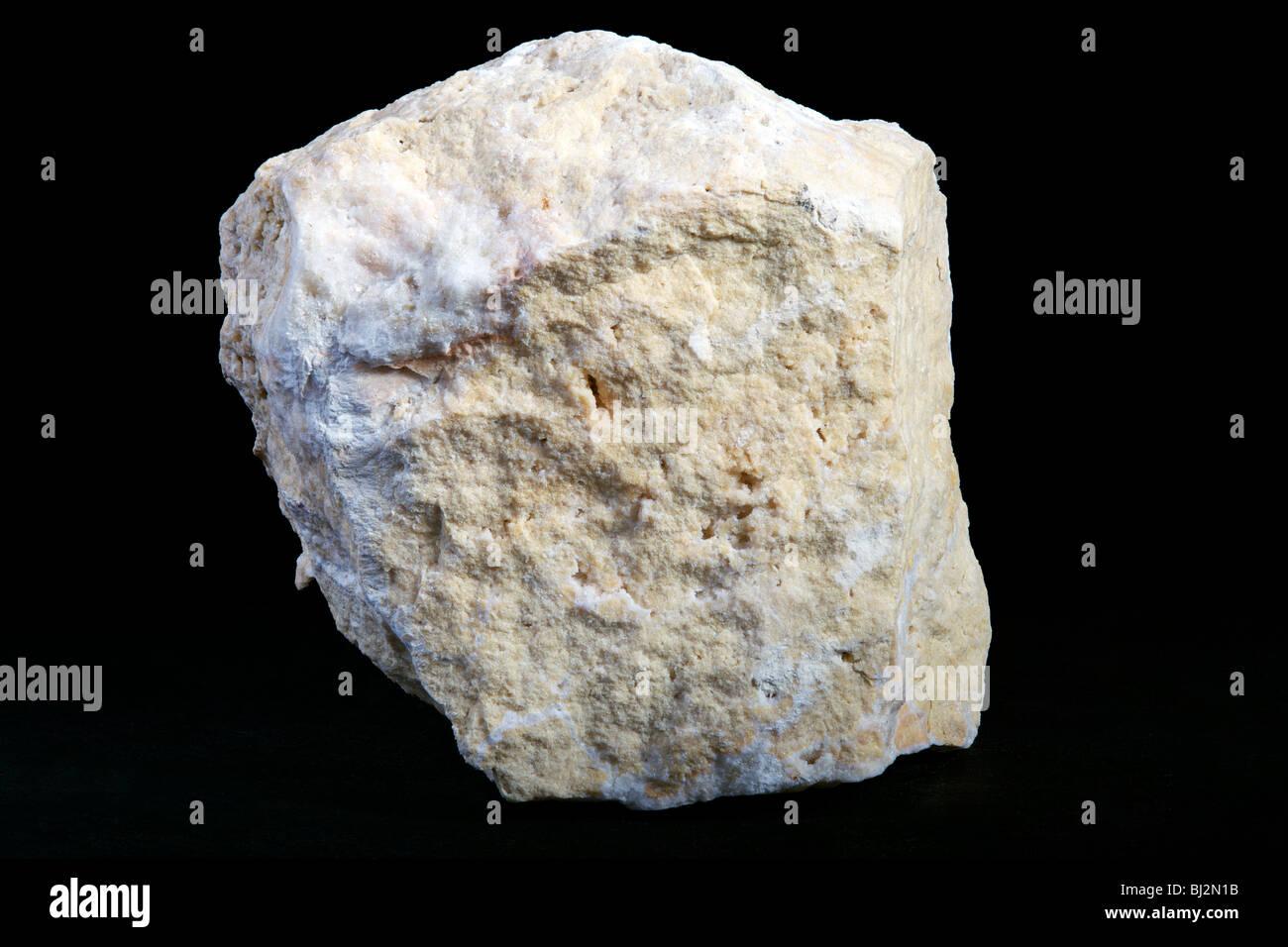 Travertine Sedimentary Rock Stock Photo Royalty Free