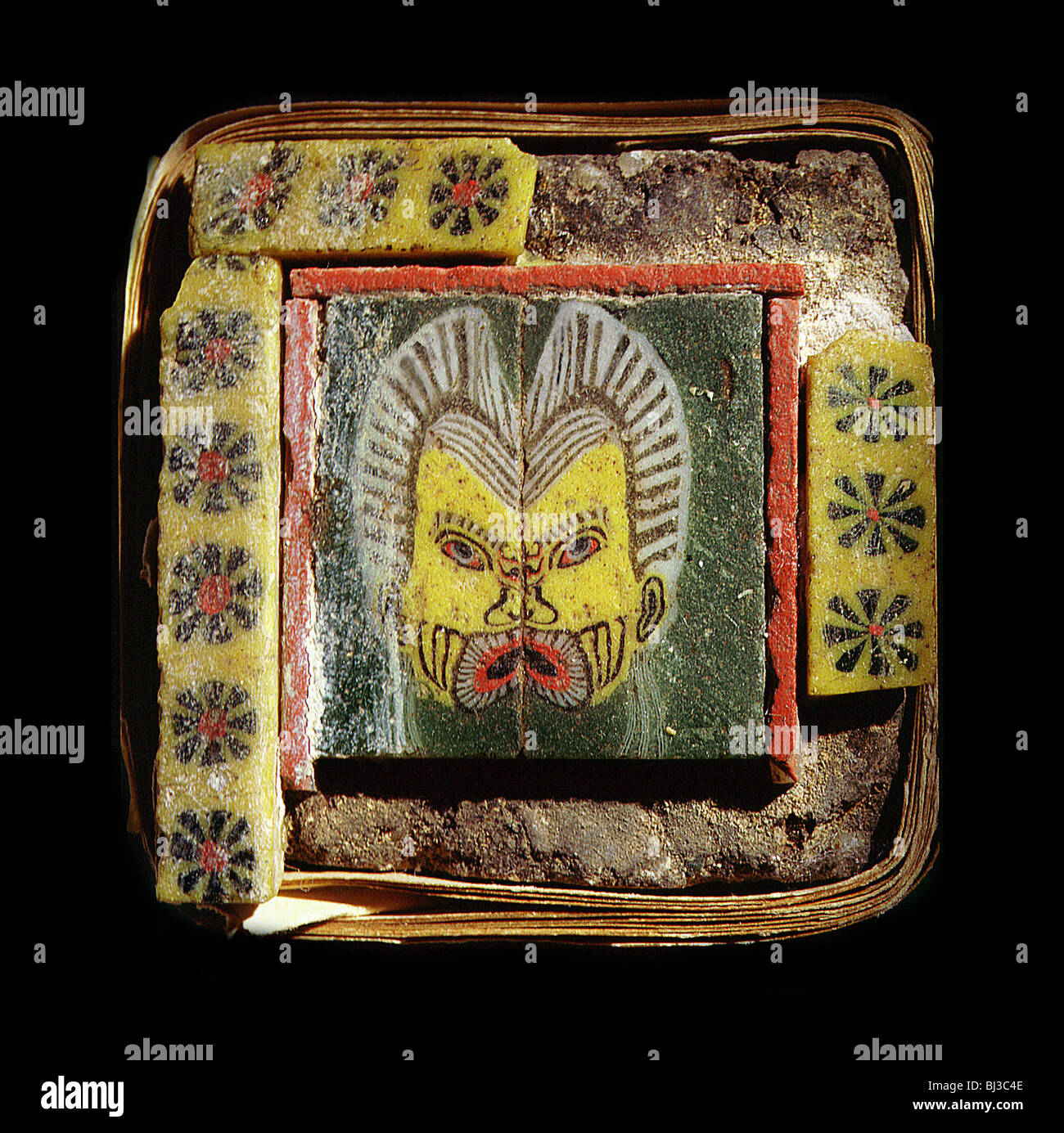 Ancient egyptian furniture - Furniture Inlay Of Glass Tiles Ancient Egyptian Ptolemaic Period C2nd 1st Century Bc Artist Werner Forman