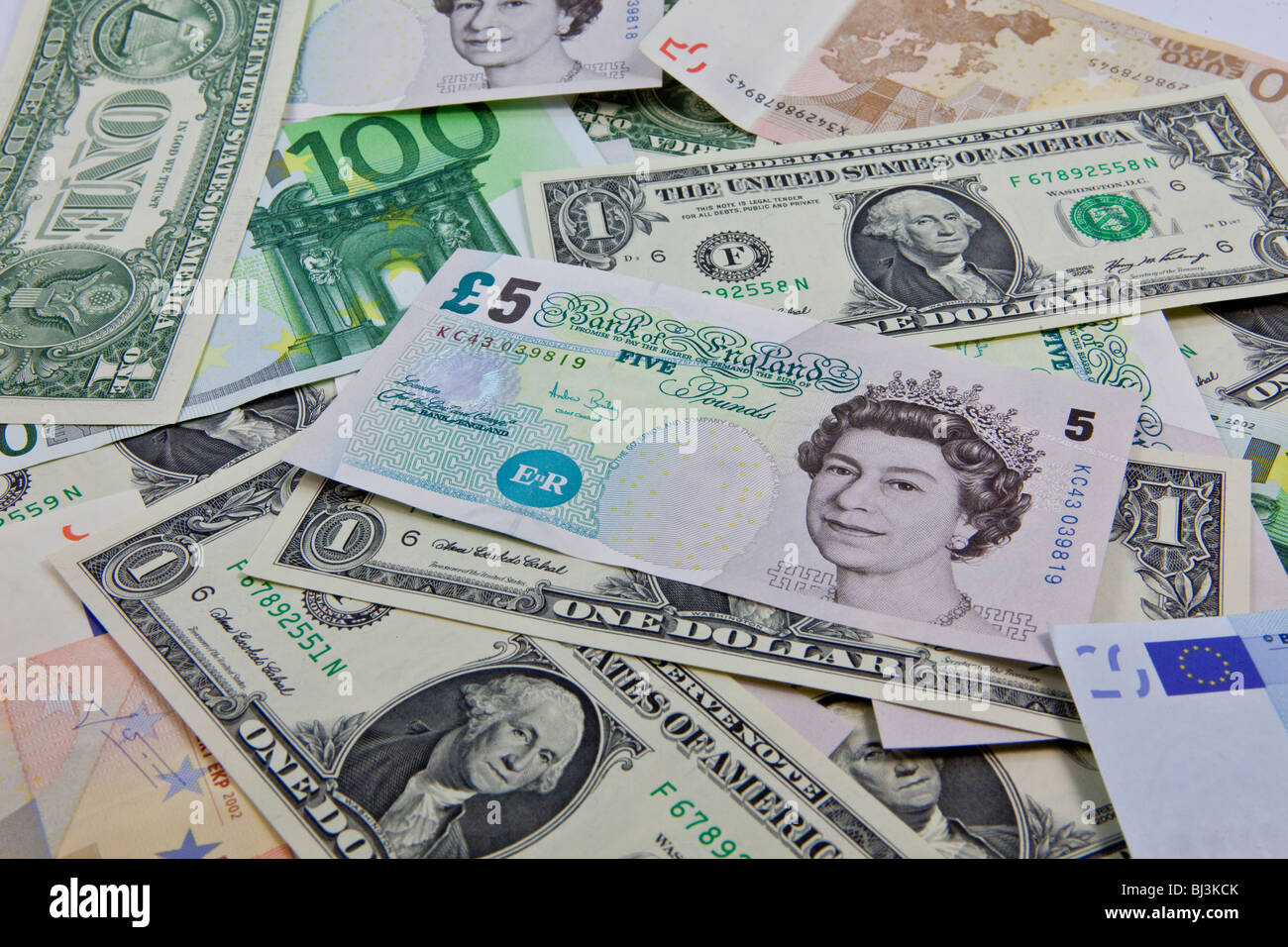 British pound sign stock photos british pound sign stock images a mixture of bank notes us dollars euros and british pounds stock image biocorpaavc Gallery