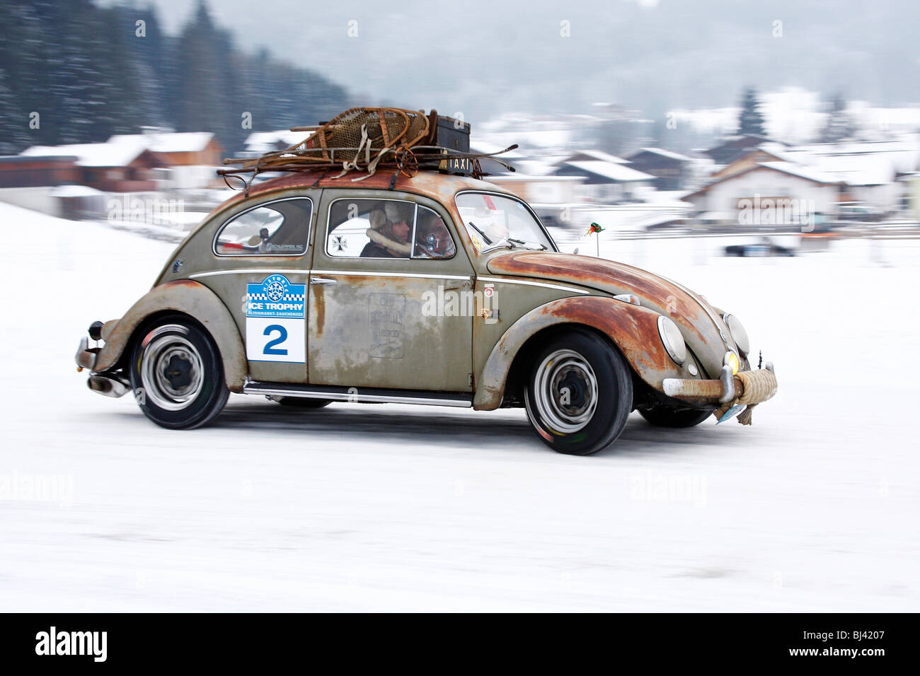 Rusty Vw Beetle Built In Classic Cars Winter Race Historic