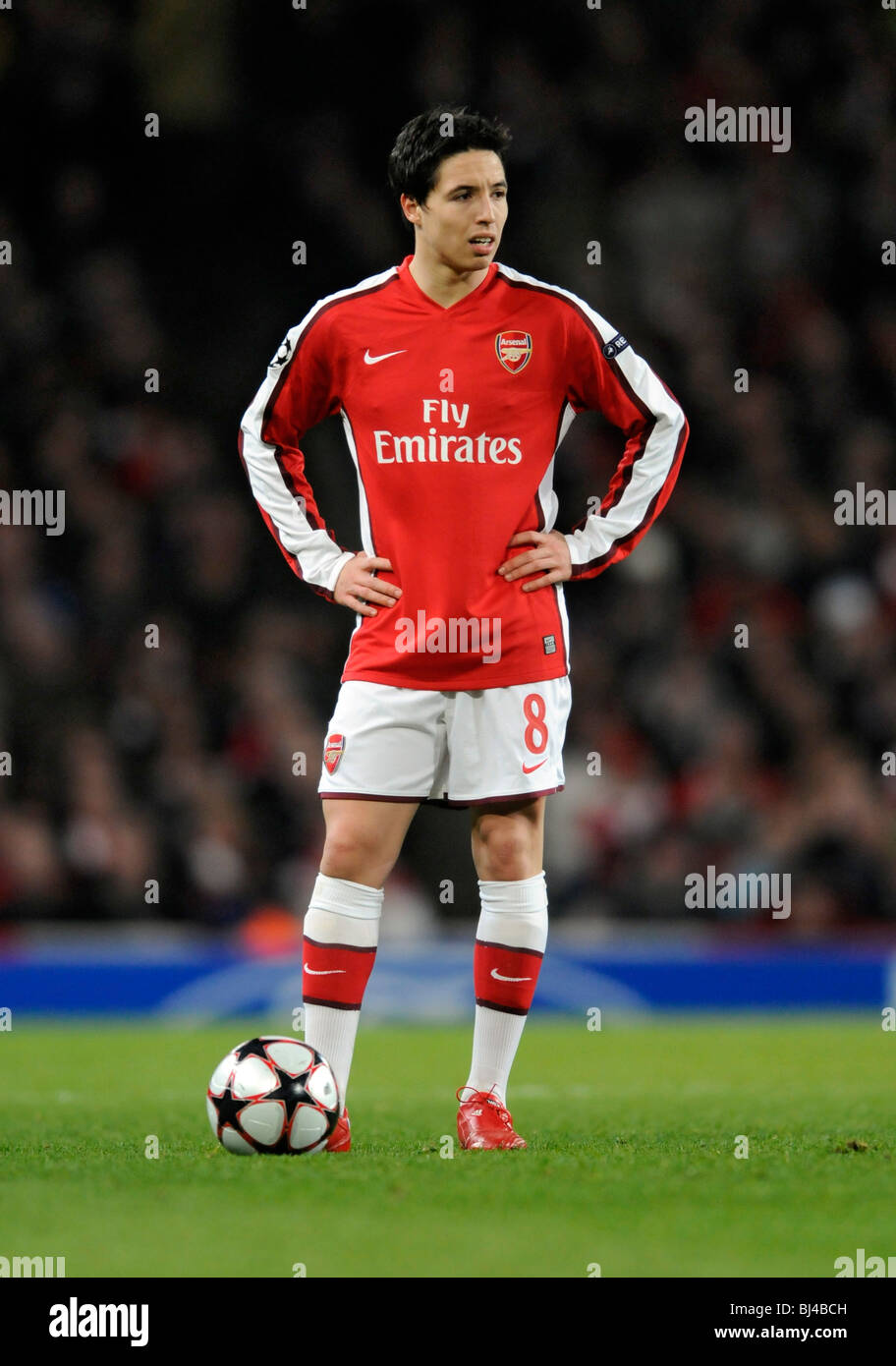 Arsenal No 8 Samir Nasri Arsenal V Porto UEFA Champions League