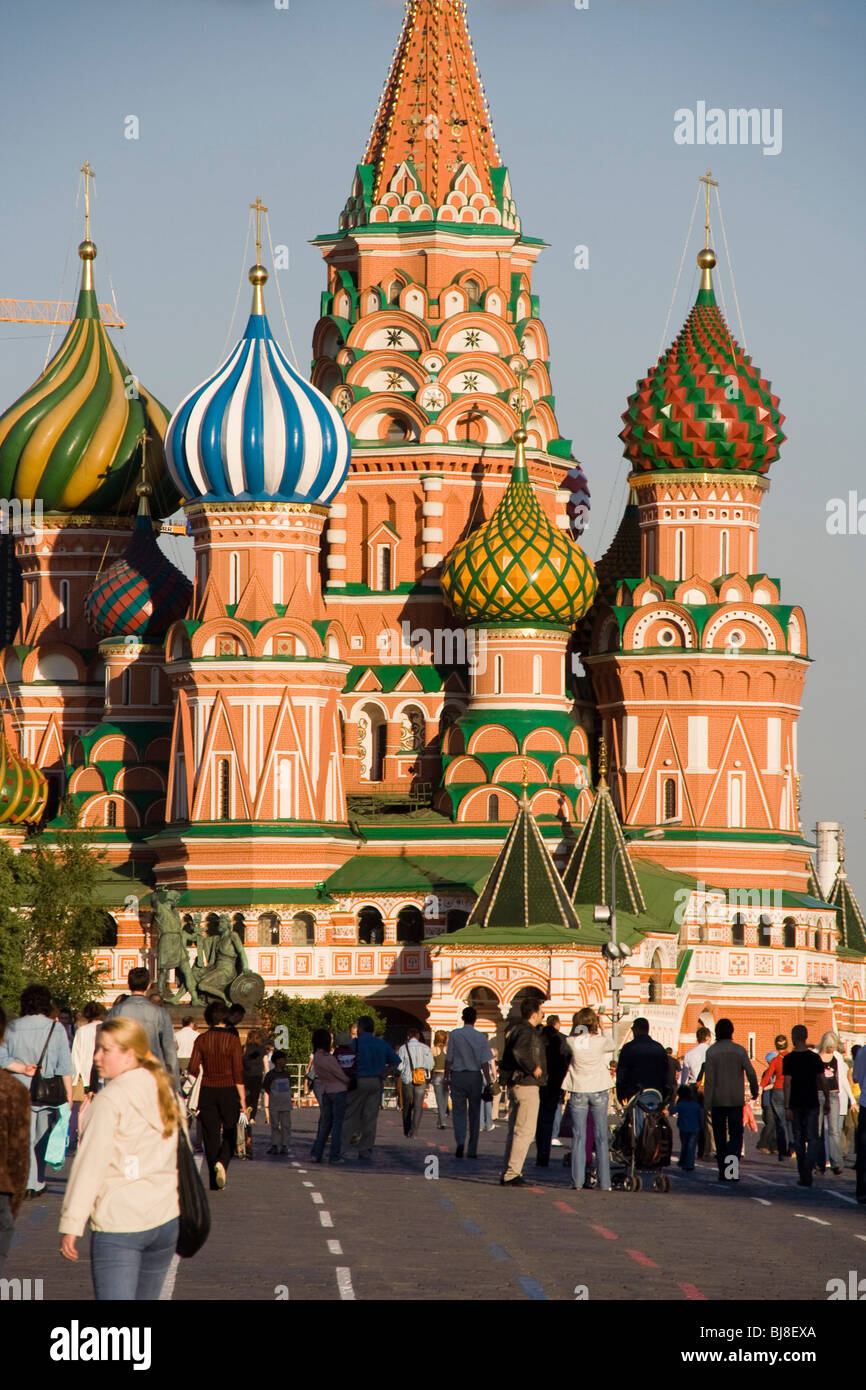 St Basils Cathedral Red Square russia dome color moscow city ...